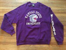 Vintage 1980s KSU K-STATE KANSAS STATE University Wildcats Velvet Cat Sweatshirt