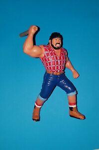☆ 1991 WCW Galoob BIG JOSH & REPRO AXE HANDLE UK Exclusive Wrestling Figure RARE