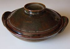 "Hand-built Earthenware Lidded Casserole 8 1/2"" Wide X 3 1/4"" Deep Bogan Pottery"