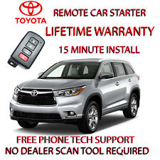 2014 2015 2016 TOYOTA HIGHLANDER REMOTE START NO WIRE SPLICING -EASY INSTALL!