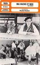 FICHE CINEMA : MA VACHE ET MOI - Truesdale,Myers,Buster Keaton 1925 Go West