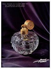 """Publicité Ancienne """" Parfum Marcel Franck l'Elégance 1957 ( P 23 )"""