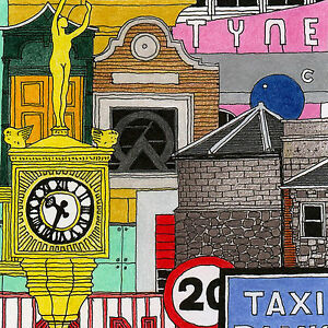 Limited Edition Art Print 'NEWCASTLE 2' Artist signed & numbered picture