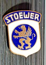 Stoewer Enamelled Brooch Emailleschrift Golden Old + Original - Dimensions