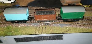 Rake Of 3 Triang Hornby Wagons Very Nice Condition Unboxed
