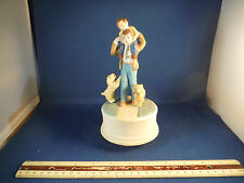 House Of Lloyd Loving Father & Son & 2 Dogs Music Box