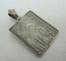 "RUSSIAN 84 SILVER ICON Pendant Orthodox ""St.NICHOLAS"""