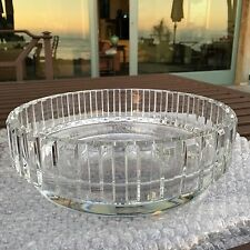 """VINTAGE 9 1/2"""" FRENCH BACCARAT CRYSTAL CENTER BOWL """"ROTARY"""" PATTERN"""