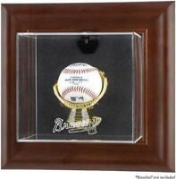 Braves Brown Framed Wall- Logo Baseball Display Case - Fanatics