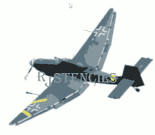 Multilayer STEP BY STEP airbrush stencil STUKA
