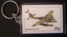 Luftwaffe HEINKEL He-115 Seaplane Torpedo Bomber WWII Aircraft Stamp Keyring