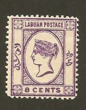 British LABUAN 8c Straits Settlements MALAYA / UK / GB