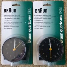 Two New Braun Ab5 Quartz Travel Alarm Clocks
