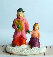 Christmas Miniature Victorian Village Mother and daughter Grandeur Noel  1995