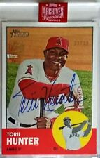 2019 Archives Signature Series Torii Hunter AUTO SP 33/39 on 2012 Topps #98 Card