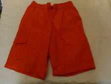 Men's St. John's Bay Swim Trunk Shorts Bright Orange  Size Small  NEW