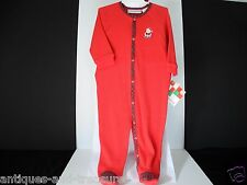 First Impressions Christmas Baby Holiday Red Plaid Trim 1 Pc. Outfit 3- 6 Months