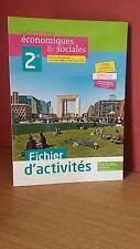SCIENCES ECONOMIQUES ET SOCIALE 2° Fichier d'activités  corrigé Hachette 2013