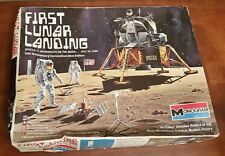"Monogram Kit No.5503, ""FIRST LUNAR LANDING"" Apollo 11 -10th Anniversary Vtg 1979"