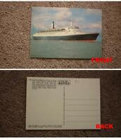 OLD SHIP SHIPPING POSTCARD, CUNARD LINE RMS QUEEN ELIZABETH II TYPE 5