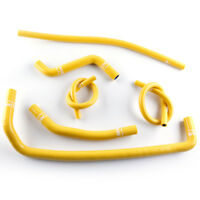 08-15 CAN AM DS 450 DS450 Silicone Radiator Coolant Hose Kit Yellow 2008-2015