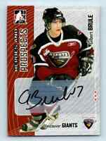 2005-06 ITG Heroes And Prospects Autographs Gilbert Brule RC Auto . #A-GB