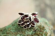 Puschelring Silberring 55 Granat Handarbeit Silber Ring Rot Stein Edel Puschel