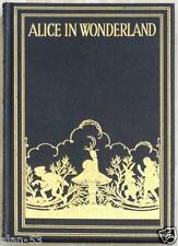 ALICE IN WONDERLAND ~ BLU LEATHER ~ GWYNEDD M HUDSON ILLUS ~ TRY TO FIND ANOTHER