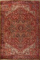 9x11 Vintage Heriz Hand-Knotted WOOL Rug Geometric Oriental Living Room Carpet