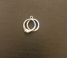 Sterling Silver charm double ring 1.5 grams (71)