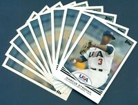 (10) 2011 TOPPS TEAM USA BASEBALL MARCUS STROMAN #20 ROOKIE CARD - LOT OF 10