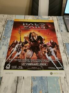 RARE Genuine ORIGINAL Halo Wars UNSC Promotional Launch Poster FREE POSTAGE