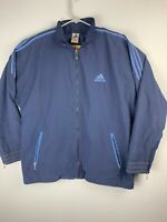 Adidas Vintage Windbreaker Full Zip Jacket Mens XL Blue
