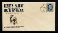 1880s Henry's Repeating Rifle Hunting Ad Reprint Collector's Envelope Op1367