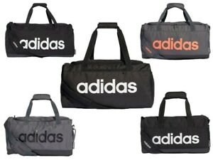 Adidas Linear Duffle Bags Sports Gym Football Training Duffel Bag Holdall Black