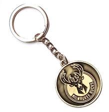 BASKETBALL NBA Milwaukee Bucks Logo Retro Souvenir Copper steel Keychain KeyRing