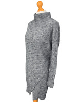 ALLSAINTS Grey 100% Wool TRIQUE JUMPER DRESS - Size Small - S