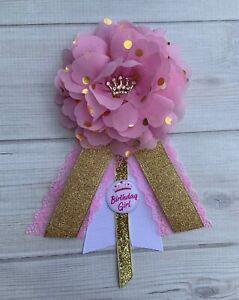 Princess Birthday Corsage Pin ,Princess Birthday Badge ,Birthday Girl Corsage