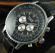Luxury Men's Automatic Mechanical Leather Strap Date Multifunction Wrist Watch