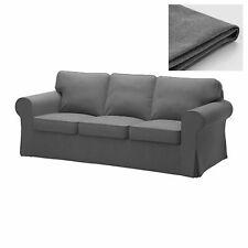 IKEA EKTORP 3 Seat Sofa Slipcover Cover NORDVALLA Dark Gray New Sealed