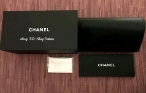 CHANEL Sunglass Case Sunglasses Case Eyeglass Pouch Wipe Cloth Size LARGE