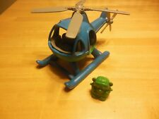 Green Toys Helicopter and Bear Green/Blue EUC