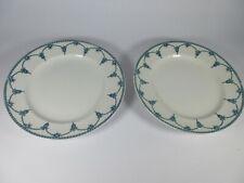 More details for losol ware keeling & co ltd kingston green blue / white dinner plates 24cm