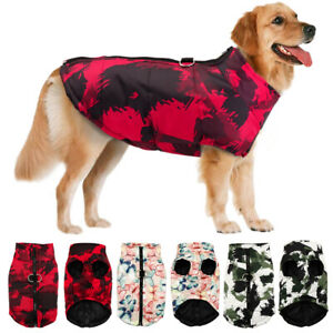 Large Dog Waterproof Coat Winter Jacket Warm Padded Pet Clothes Apparel Labrador