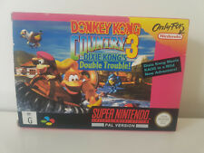 MINT-Donkey Kong Country 3- Super Nintendo PAL - Boxed & Complete- SNES