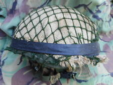 genuine ISSUE BRiTiSH PARA PARATROOPER AIRBORNE HELMET & HESSIAN cover & NET