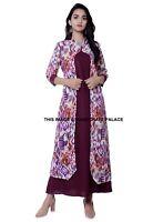 Indio Bollywood Diseñador Kimono Estilo Kurta Kurti Mujeres Étnico Vestido Largo