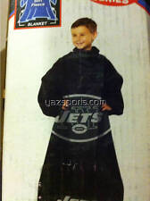 New York Jets Youth Huddler Comfy Throw Blanket with Sleeves