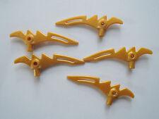 LEGO 5 X PISTOLA Sense lama 98141 PERL GOLD Ninjago 9441 9442 9445 9446