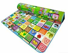 Reversible Kids Activity Mat Baby Care Play Mat Letter & Game